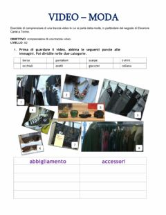 Interactive worksheet Moda video