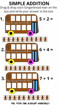 Interactive worksheet Simple Addition