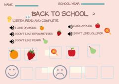 Interactive worksheet Back to school 2