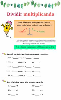 Interactive worksheet División 1