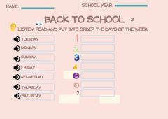 Interactive worksheet Back to school 3