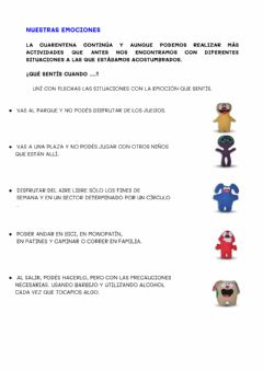 Interactive worksheet Nuestras emociones