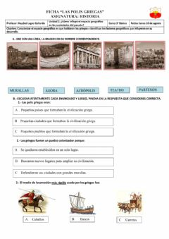 Interactive worksheet Las polis griegas
