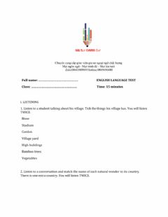 Interactive worksheet Lớp 6 - Unit 5 NATURAL WONDERS OF THE WORLD-LISTENING