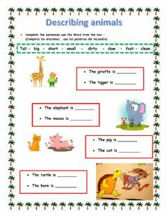 Interactive worksheet Adjectives