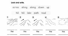 Interactive worksheet The Nature Trail ( across-along-up-down)