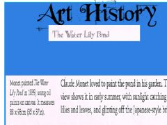 Interactive worksheet HISTORY art