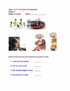 Interactive worksheet The visit to grandmother