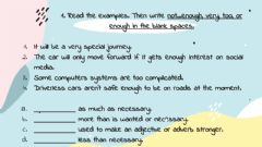 Ficha interactiva Vocabulary: enough, too, very, not .... enough