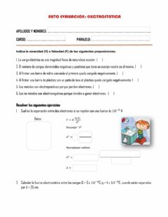 Interactive worksheet Electrostática - ley de coulomb