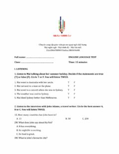 Interactive worksheet Lớp 6 - Unit 9 CITIES OF THE WORLD-LISTENING