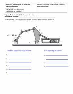 Interactive worksheet Tipos de eslabones