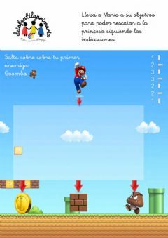Interactive worksheet Laberinto Super Mario