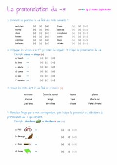 Interactive worksheet La prononciation du -s final