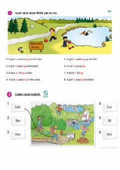 Interactive worksheet Nature Trail-Reading&Listening