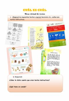 Interactive worksheet Texto instructivo 1