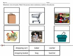 Interactive worksheet Grocery Store Labels