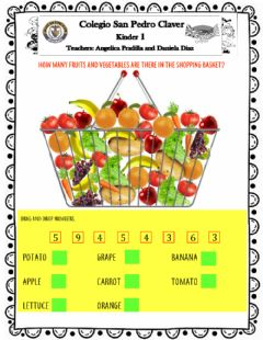 Ficha interactiva Counting Fruits and Veggies