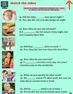 Interactive worksheet Grammar: use to vs used to