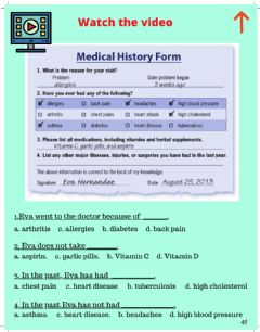 Interactive worksheet Reading-Vocabulary: Health Forms