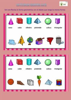 Interactive worksheet Formas geometricas