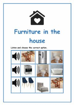 Interactive worksheet Furniture in the House