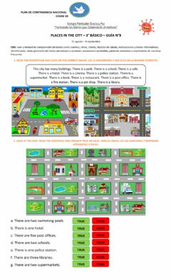 Interactive worksheet Places in the city