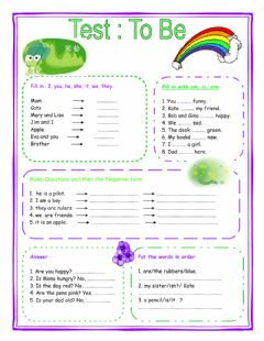 Interactive worksheet Am-is-are