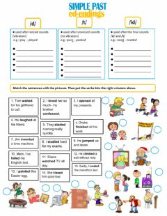 Interactive worksheet -ED Endings