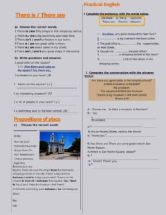 Interactive worksheet There is - are