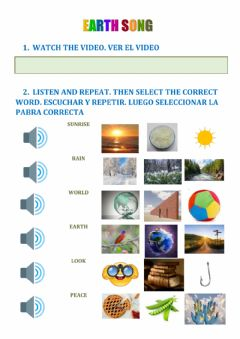 Interactive worksheet Earth song