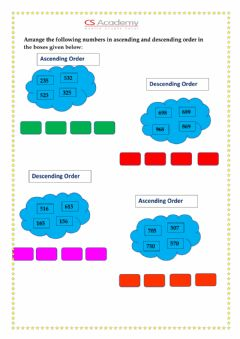 Interactive worksheet 3-digit numbers