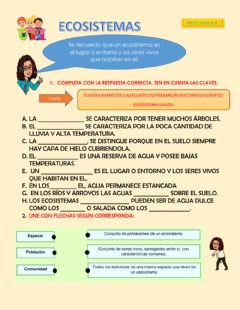 Interactive worksheet Ecosistema