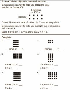 Interactive worksheet Grade 3 Array