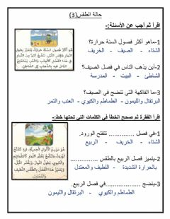 Interactive worksheet حالة الطقس 3