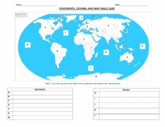 Interactive worksheet Continents and Oceans of the World