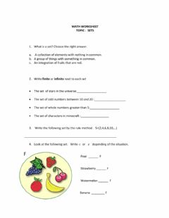 Interactive worksheet SETS 6th grade