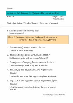Interactive worksheet 5th Evs WS 3 by Vijay gundu