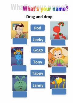 Interactive worksheet What's your name? Gogo