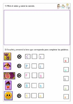 Interactive worksheet Extra 1st - Sounds (Vowels)