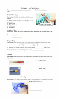 Interactive worksheet Painting Techniques