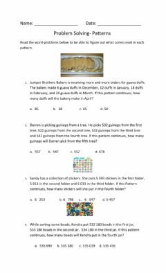 Interactive worksheet Problem solving- patterns