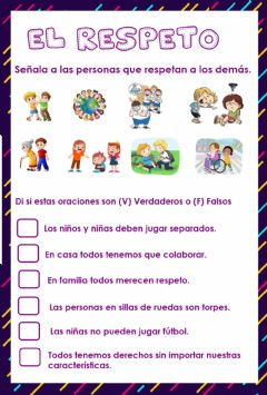 Interactive worksheet El Respeto