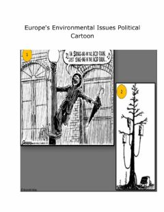 Interactive worksheet Europe Environmental Issues Political Cartoon