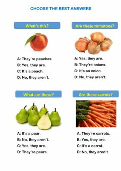 Interactive worksheet Questions with fruits