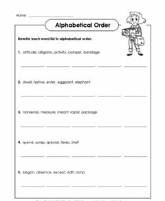 Interactive worksheet Alphabetical Order D1 5th Grade