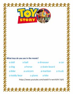 Interactive worksheet Toy Story