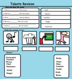 Interactive worksheet Talents