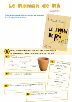 Interactive worksheet Le Roman de Râ - épisode 5