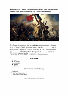 Interactive worksheet The French Revolution